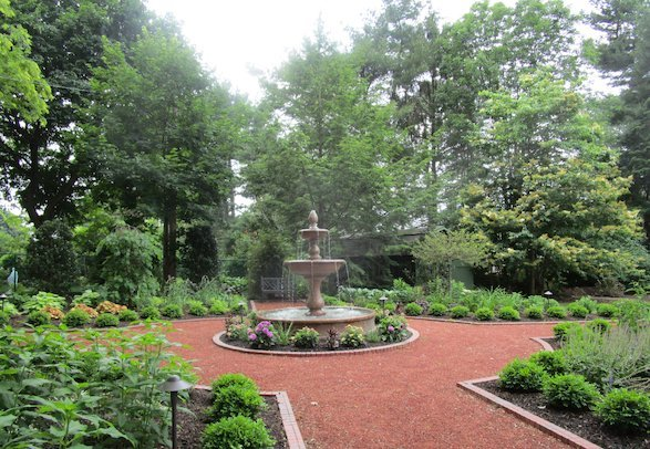 Parterre garden emphasizes the beauty of the landscape