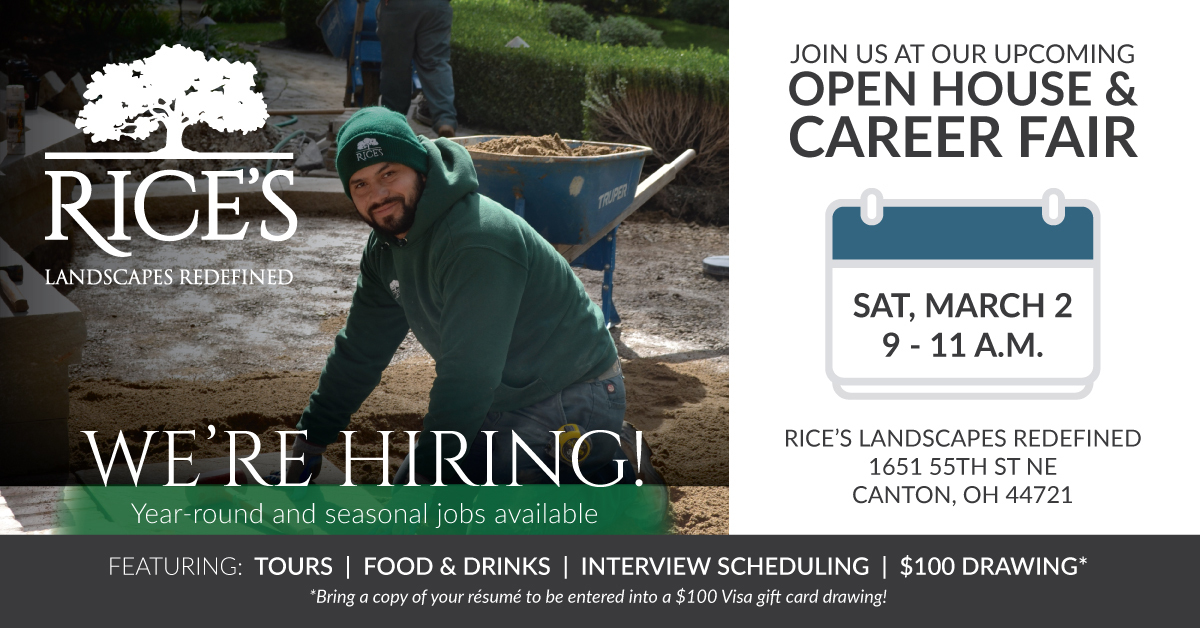 Rice's Landscaping Career Fair, March 2