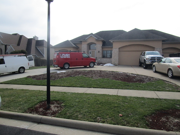 Curb appeal was the client's main priority. They wanted this large island area adjacent to the driveway to be a focal point for passing pedestrians and vehicles.