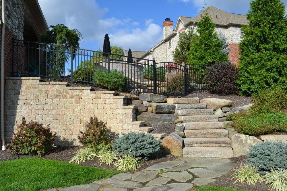 Completed estate landscaping management for a home in North Canton, Ohio