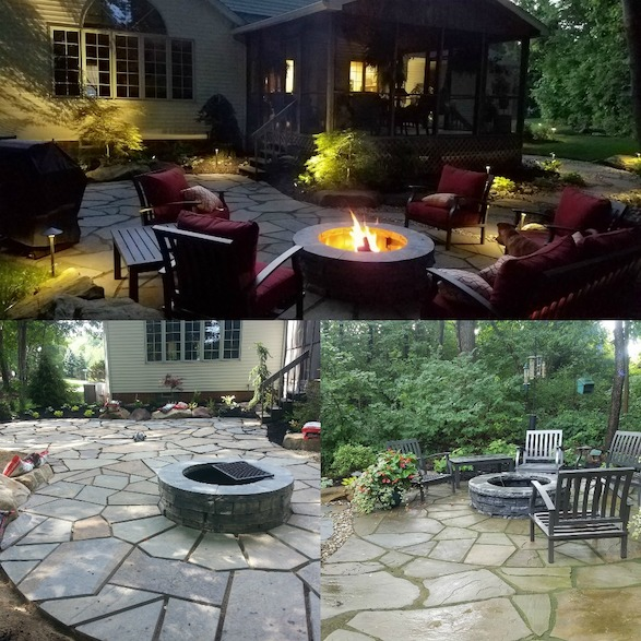 Rice's Landscaping Fire Pit Installation