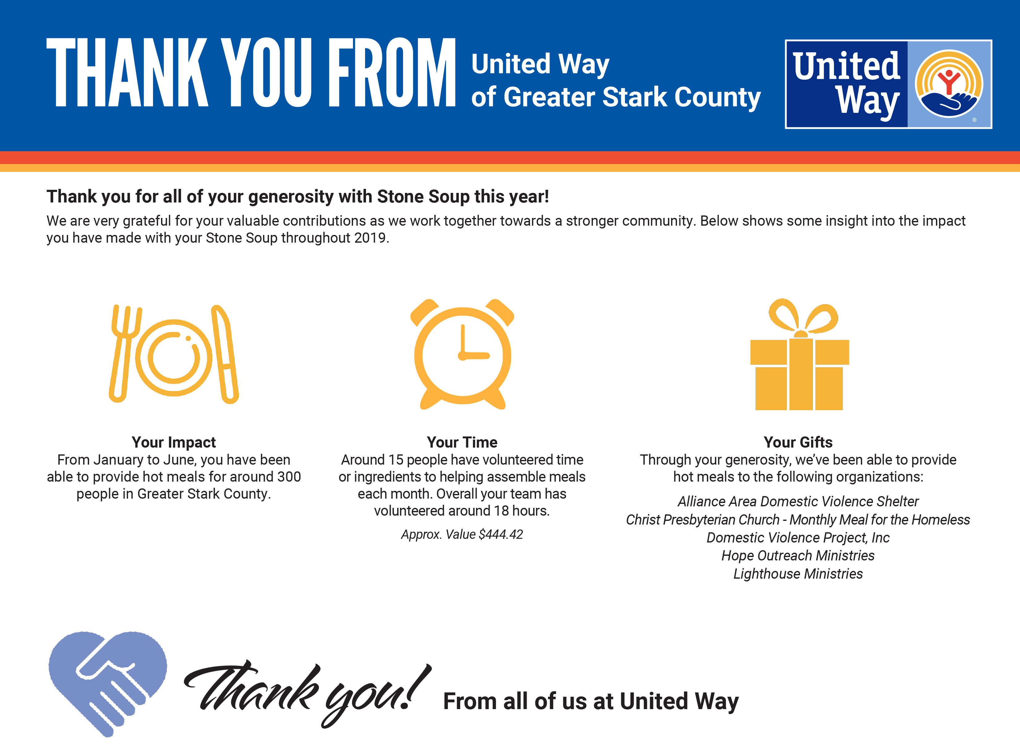 Rice's Impact with United Way Stone Soup