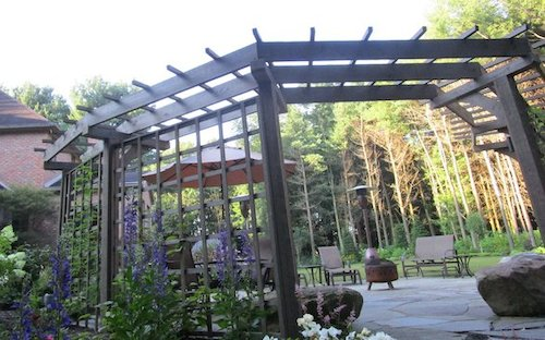 Stunning pergola to compliment the beautiful outdoor entertainment space