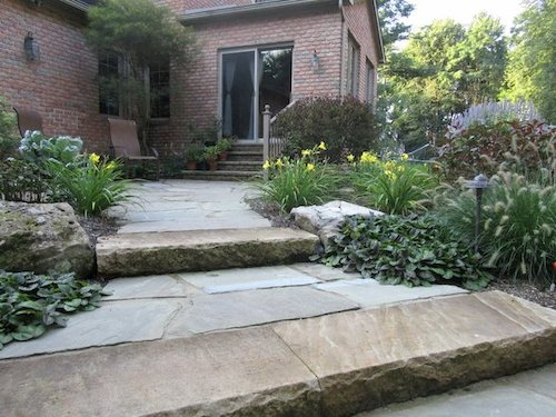 Build architectural interest to your backyard with a stone pathway