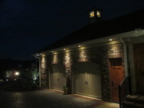 Custom garage lighting design and installation