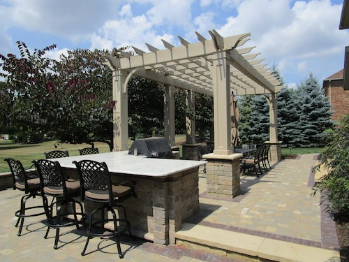 Custom Designed Patio with Pergola